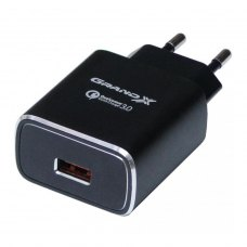 МЗП Grand-X Quick Charge QС3.0 3.6V-6.5V 3A, 6.5V-9V 2A, 9V-12V 1.5A USB (CH-750B)