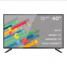 Телевізор ERGO 40DF5500 LED,1920x1080,SmartTV,60Гц,250кд/м²,DVB-C,DVB-S2,DVB-T2,3xHDMI,2xUSB,200x200мм