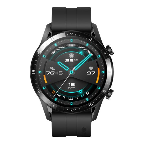 Смарт-годинник Huawei Watch GT2 46 mm Sport (silicone band), Black