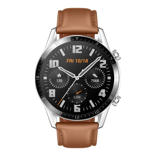 Смарт-годинник Huawei Watch GT2 46mm Classic (leather strap), Silver