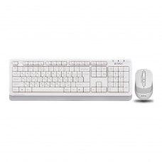 Комплект бездротовий (клавіатура+мишка), A4Tech FG1010 (White)