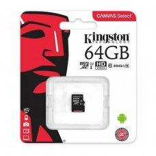 microSDXC карта 64Gb Kingston class10 UHS-I KINGSTON Canvas 80MB/s (SDCS/64GbSP)