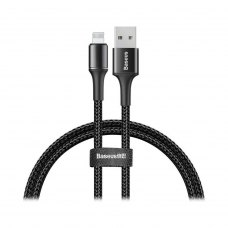 Кабель Baseus halo data cable USB For IP (Lightning) 2.4A 0.5m Black