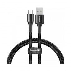 Кабель Baseus halo data cable USB For microUSB 3A 0.5m Black