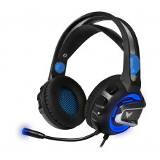 Ігрова гарнітура Crown CMGH-3001 Blue аналог. LED-підсвітка