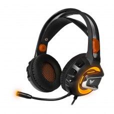 Ігрова гарнітура Crown CMGH-3003 Orange аналог. LED-підсвітка