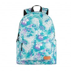 Рюкзак 2Е, TeensPack Wildflowers, зелено-блакитний (2E-BPT6114GB)