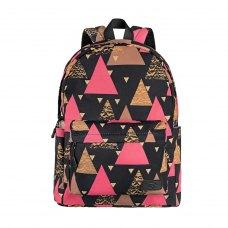 Рюкзак для ноутбука, 13, 2Е TeensPack Triangles (2E-BPT6114BK)
