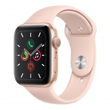 Смарт годинник Apple Watch Series 5 GPS, 44mm Gold Aluminium with Pink Sand Sport Band