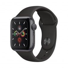 Смарт годинник Apple Watch Series 5 GPS, 44mm Space Grey Aluminium with Black Sport Band - S/M & M/L
