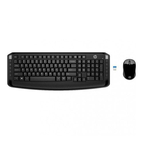 Комплект бездротовий (клавіатура+мишка), HP 300 (3ML04AA), чорний