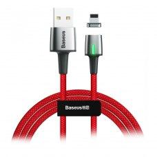 Кабель Baseus Zinc Magnetic Cable USB Lightning 2.4A 1m Red