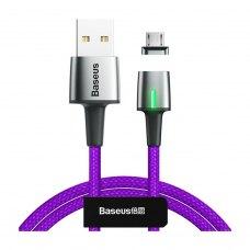 Кабель Baseus Zinc Magnetic Cable USB MicroUSB 2.4A 1m Purple