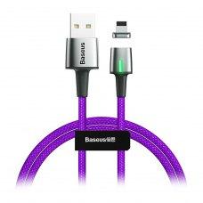 Кабель Baseus Zinc Magnetic Cable USB Lightning 2.4A 1m Purple
