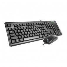Комплект дротовий (клавіатура+мишка), A4Tech KM-72620D (Black) USB