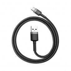 Кабель Baseus Cafule Cable USB For Type-C 3A 0.5M Gray/Black