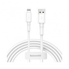 Кабель Baseus Mini White USB Cable Lightning 2.4A 1m White