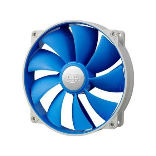 Кулер до корпусу Deepcool Ultra Silent (UF 140), 140*140*25мм, 2-ball bearing, 1500RPM, <19dB, блакитний
