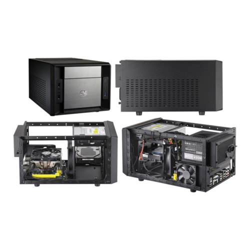 Корпус, без БЖ, CoolerMaster Elite 120 Black (RC-120A-KKN1), MicroTower, MiniITX, USB, Audio, чорний