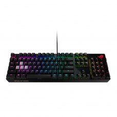 Клавіатура дротова ASUS ROG Strix Scope USB Cherry MX Red Silent RGB Red Ru (90MP0185-B0RA00)