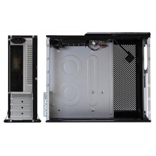 Корпус,400ВтБЖ,LogicPowerS605BKBlack(S605BK-400),Slim,MiniITX,чорний,USB,Audio