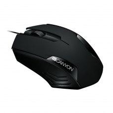 Миша дротова CANYON CNE-CMS02B, USB, 1000 DPI, Чорний (CNE-CMS02B)