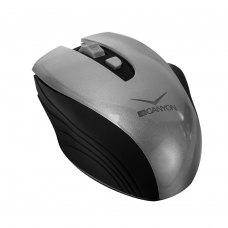 Миша бездротова CANYON CNS-CMSW7G, 1600dpi, Soft Touch, акумулятор, Сірий (CNS-CMSW7G)