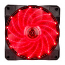 Вентилятор 1stPlayer A1-15LED Red bulk; 120х120х25мм, 4-pin