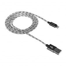 Кабель CANYON CNE-CFI3DG 8-pin Lightning - USB, 1 м, Lightning, плетений, Grey (CNE-CFI3DG)