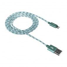 Кабель CANYON CNE-CFI3G 8-pin Lightning - USB, 1 м, Lightning, плетений, Green (CNE-CFI3G)