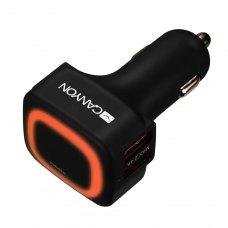 Автомобільний зарядний пристрій CANYON CNE-CCA05B 4xUSB 4.8A Black-Orange (CNE-CCA05B)