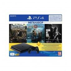 Ігрова приставка PlayStation 4 1Tb Чорна (God of War & Days Gone & The Last of Us + підписка PSPlus на 3 місяці)