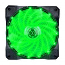 Вентилятор корпусний 1stPlayer A1-15LED Green bulk; 120х120х25мм, 4-pin