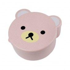 Дитячий ланч-бокс Bear 4в1, рожевий