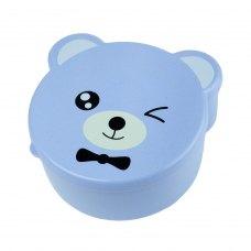 Дитячий ланч-бокс Bear 4в1, блакитний