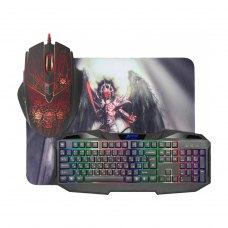Комплект ігровий Defender Anger MKP-019 (миша+клавіатура+килимок), чорний