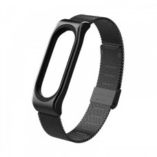 Браслет для Xiaomi Mi Band 5 (Metal Milanese) Black