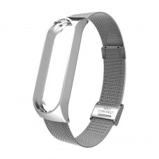 Браслет для Xiaomi Mi Band 5 (Metal Milanese) Silver