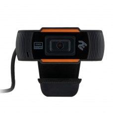 Веб-камера 2E FHD(2E-WCFHD) 1920x1080,20 кадр/с,микрофон с шумоподавлением,автофокус,черный