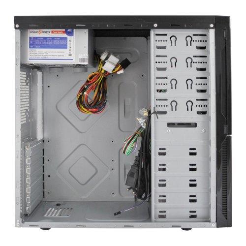 Корпус,450ВтБЖ,LogicPower6907Glamour(6907-450),MidiTower,ATX,згламурниммалюнком,fun1x120мм,USB,Audio,2xSATA