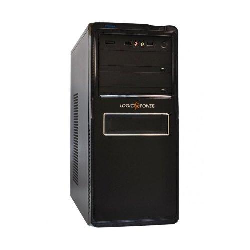 Корпус,450ВтБЖ,LogicPower8824BlackSilver(8824-450),MidiTower,ATX,чорний,USB,Audio