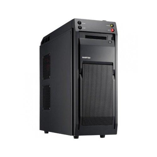 Корпус, без БЖ, Chieftec LIBRA Black (LF-01B-OP), MidiTower, ATX, чорний, USB2.0, док-станция, fun 5