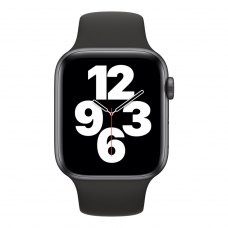 Смарт годинник Apple Watch Series SE GPS, 44mm Space Grey Aluminium Case with Black Sport Band
