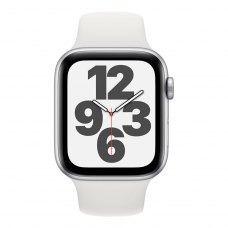 Смарт годинник Apple Watch Series SE GPS, 44mm Silver Aluminium Case with White Sport Band