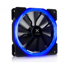 Кулер до корпусу Vinga LED fan-01 blue 1, 120 мм, FDB Bearing (гідродинамічний), 1100RPM, пластик, 2