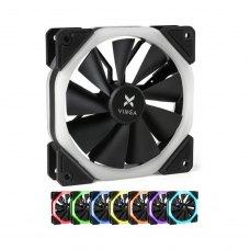 Кулер до корпусу Vinga RGB fan-04 1, 120 мм, FDB Bearing (гідродинамічний), 1100RPM, пластик, 22 dB,