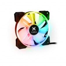 Кулер до корпусу Vinga RGB fan-02 1, 120 мм, FDB Bearing (гідродинамічний), 1200RPM, пластик, 22.5 d