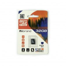 microSDHC карта 32GB (UHS-1) Mibrand class10 (MICDHU1/32GB)