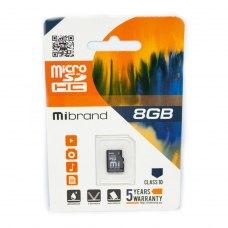 microSDHC карта 8GB Mibrand class10 (MICDHC10/8GB)