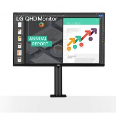 Монітор LG QHD Ergo 27QN880-B, 27, IPS, 2560x1440, 75Гц